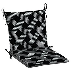 Hampton Bay Black Lattice Dining Chair Cushion