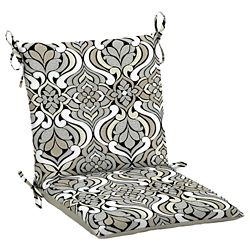 Hampton Bay Black & Gray Tile Dining Chair Cushion