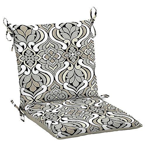 Hampton Bay Black & Gray Tile Dining Chair Cushion