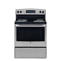 30-inch 5.0 cu. ft. Single Oven Electric Range with Self Cleaning in Stainless Steel