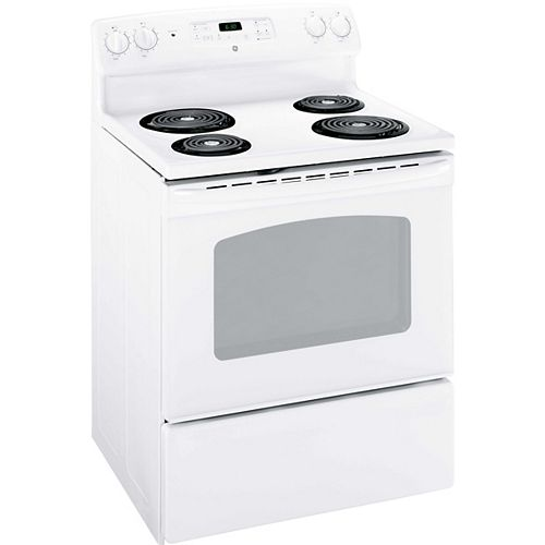 GE 30-inch 5.0 cu. ft. Single Oven Electric Range in White