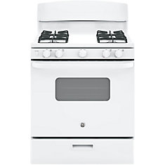 4.8 cu.ft Free Standing Standard Clean Gas Range- White