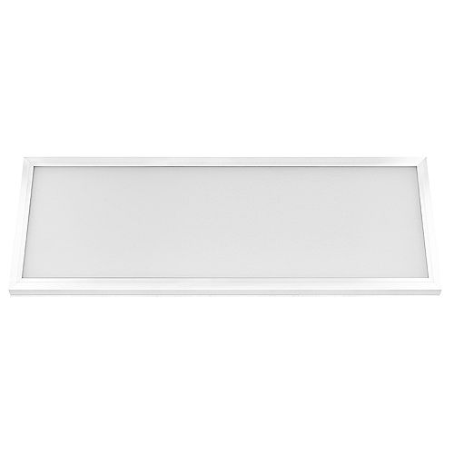 Commercial Electric 1 ft. x 4 ft. 50W Dimmable Integrated LED White Edge-Lit Flat Panel Light Flush Mount Colour Change CCT
