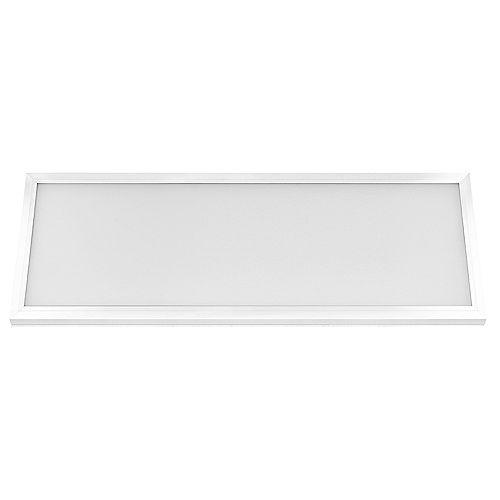 Commercial Electric 1 pi x 4 pi 50 W à intensité variable DEL intégrée à éclairage à panneau plat à éclairage par le bord blanc Changement de couleur CCT