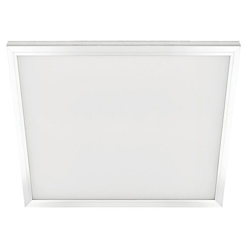 Commercial Electric 2 ft. x 2 ft. 48W Integrated LED Wht Edge-Lit Flt Pnl T-Bar Grid Troffer/Flushmnt w/Color Change CCT