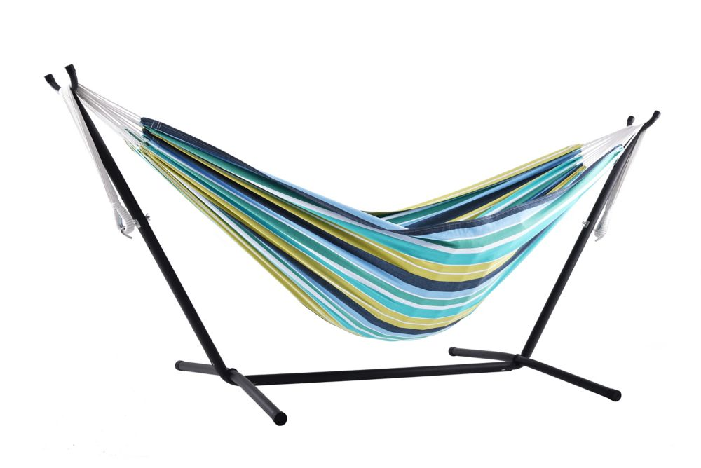 Vivere Combo - Double Cayo Reef Hammock with Stand (9 ft.)