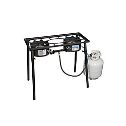 Camp Chef Pioneer 2-Burner Propane Camping Stove in Black