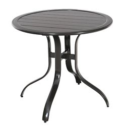 Hampton Bay Sterling Brown Commercial Aluminum 30-inch Round Slatted Top Outdoor Patio Bistro Table