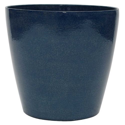 Hampton Bay 13 inch Round Planter - Blueberry