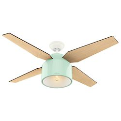 Hunter Cranbrook 52 inch LED Indoor Mint Green Ceiling Fan