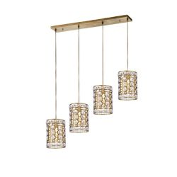 CWI Lighting 37 inch 4 Light Chandelier with Champagne Finish From our Belinda Collection