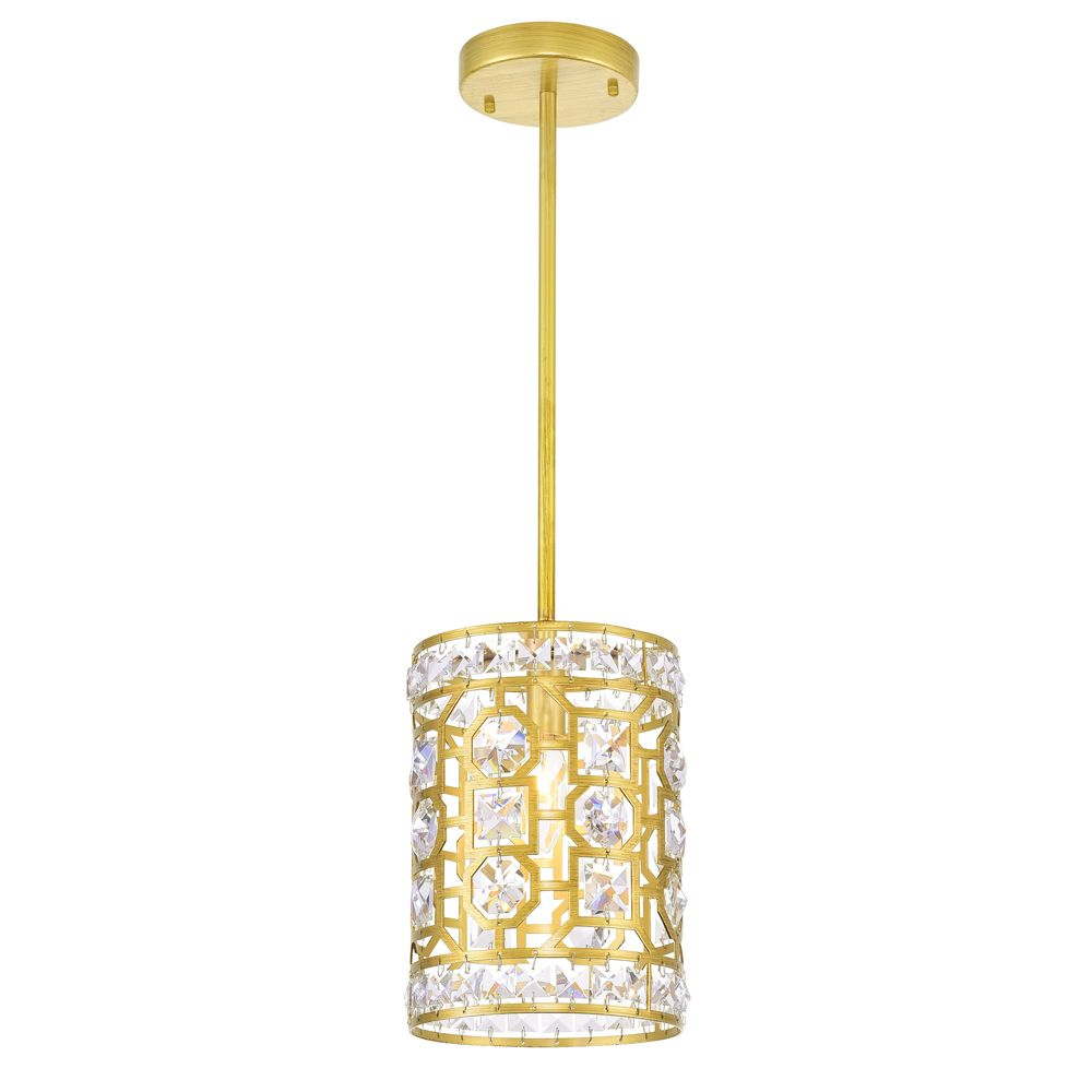 CWI Lighting 7 inch 1 Light Pendant with Champagne Finish From our Belinda Collection