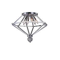 23 inch 6 Light Flush Mount with Chrome Finish From our Calista Collection