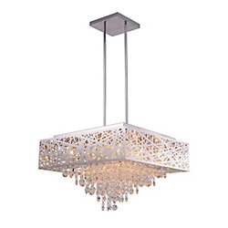 CWI Lighting 22 inch 12 Light Chandelier with Chrome Finish From our Eternity Collection