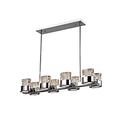 CWI Lighting 34 inch 8 Light Chandelier with Chrome Finish From our Emmanuella Collection