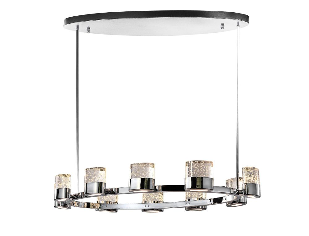 CWI Lighting 47-inch 10 Light Chandelier with Chrome Finish From our Emmanuella Collection