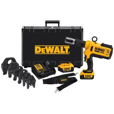 DEWALT 20V MAX Press Tool Kit (4.0 Ah) with 2 Batteries, 6 Heads and Kit Box