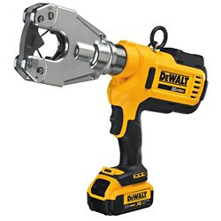 DEWALT 20V MAX Dieless Electrical Crimping Tool (4.0 Ah) with 2 Batteries and Kit Box