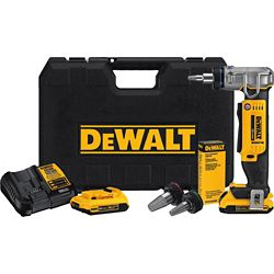 DEWALT 20V MAX 1-inch PEX Expansion Tool Kit (2.0 Ah) with 2 Batteries and Kit Box