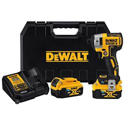 DEWALT 20V MAX XR Tool Connect 1/4-inch Impact Driver (5.0 Ah) with 2 Tool Connect Batteries and Kit Box