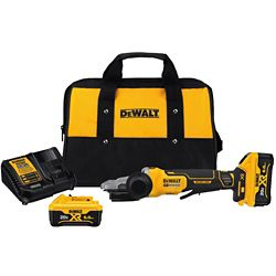 DEWALT 20V Max Lithium Ion Cordless 5-inch Flathead Small Angle Grinder Kit with Kickback Brake