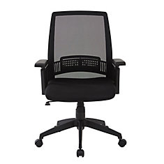 Breathable Screen Back Manager Chair in Black