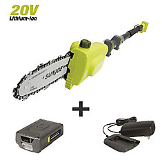 8-inch 2.0-Ah 20-Volt Cordless Telescoping Pole Chain Saw
