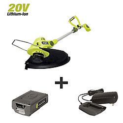Sun Joe 11-inch 2.0-Amp 20-Volt Auto Feed Cordless String Trimmer/Edger