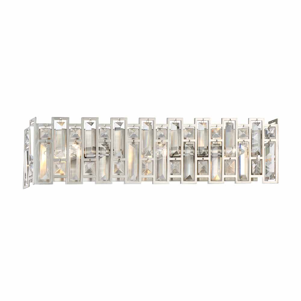 Designers Fountain Incandescent 3-light Bath Bar,Satin Platinum Finish
