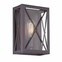 Designers Fountain Incandescent 1-light  Wall Sconce,Satin Bronze Finish, Clear Glass