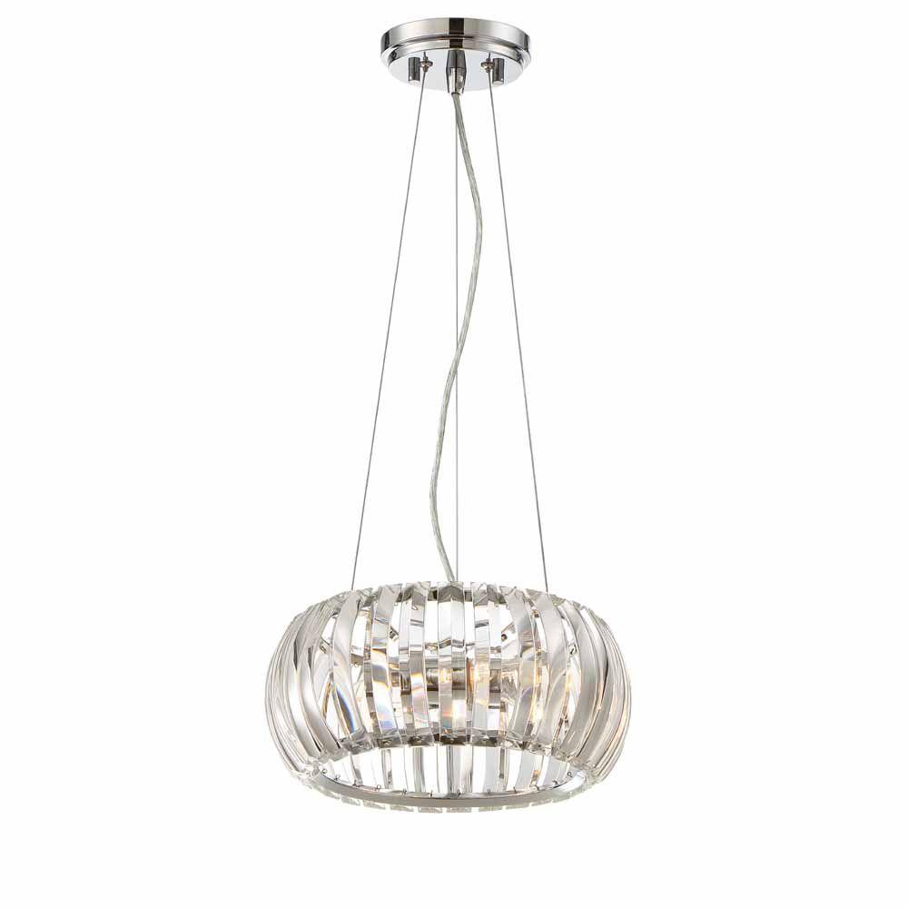 Designers Fountain Incandescent 2-light Mini Pendant,Chrome, Clear K9 Crystal Glass