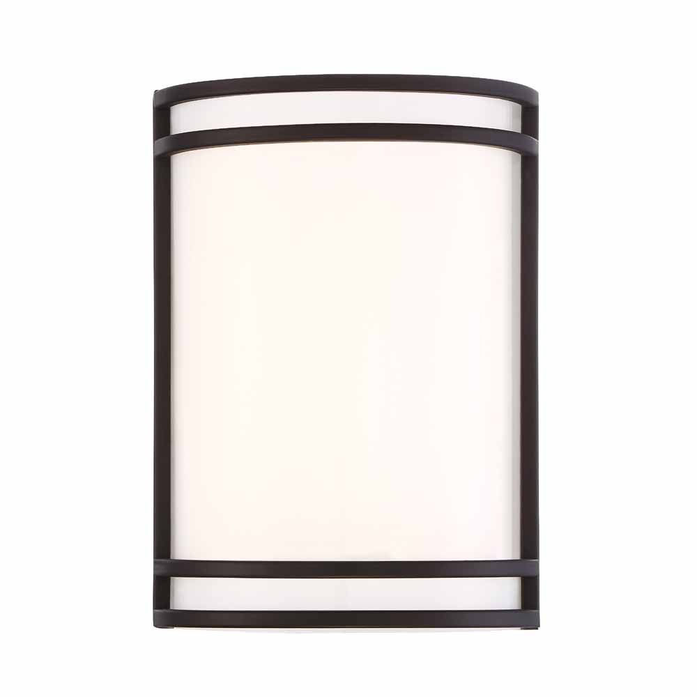 Cordelia Lighting Integrated LED Wall Sconce,Oil Rubbed Bronze Finish, White Acrylic, Estimated 889lms, CCT 3000K
