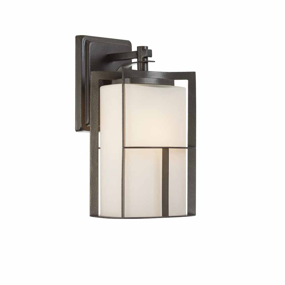 Designers Fountain Incandescent 1-light  Wall Sconce,Charcoal Finish, Frosted Glass with Painted White Inside