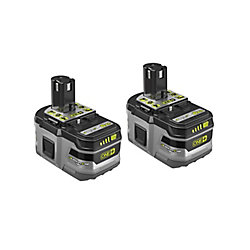 RYOBI 18V ONE+ 6.0Ah High Capacity Lithium+ HP Battery (2-Pack)