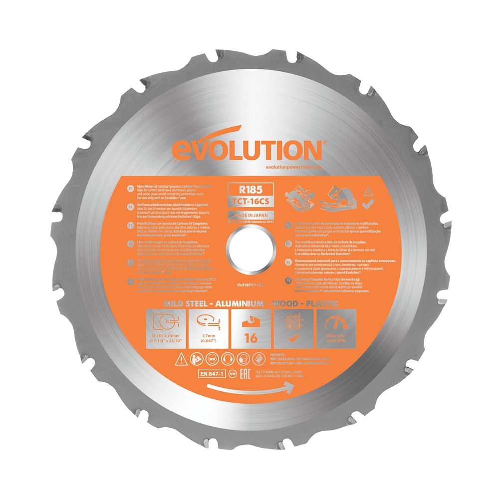 Evolution Power Tools 7-1/4 inch. Multi-Material Replacement Saw Blade
