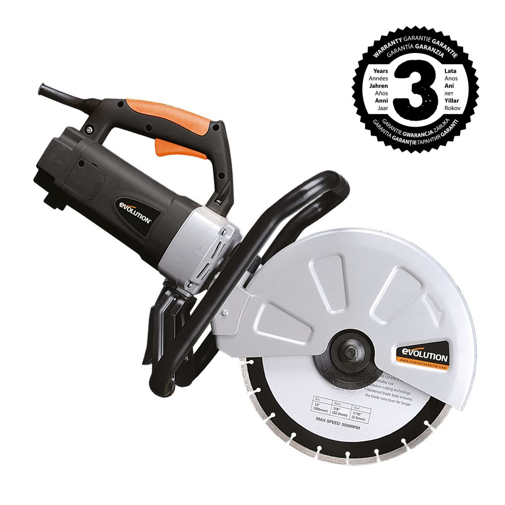 Evolution Power Tools Evolution 12-inch Disc Cutter with Diamond Blade