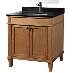Tidalbath Ashford 31 inch Vanity in Aged Ash w/ Granite Countertop