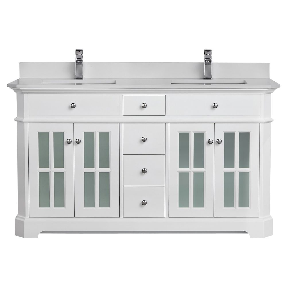 Glacier Bay Ashland Ii 36 Inch 3 Drawer Vanity With Top In