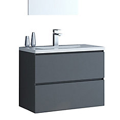Ion 30 inch Wall Mount Vanity in Gloss Grey