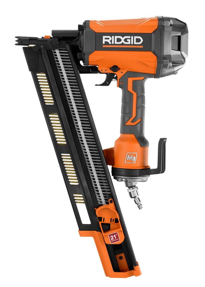 RIDGID 21-Degree 3-1/2-Inch Round-Head Framing Nailer
