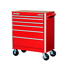 SHD Series 35inch. 6 drawer mobile cabinet, Red