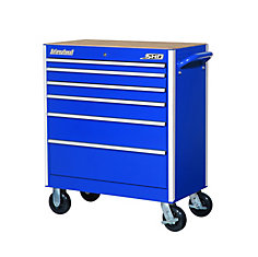SHD Series 35inch. 6 drawer mobile cabinet, Blue