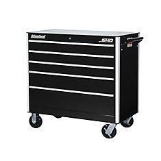 SHD Series 42inch. 5 drawer mobile cabinet, Black