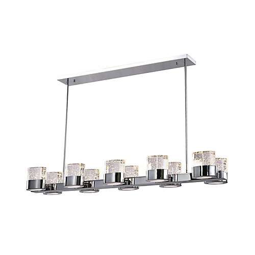47 inch 10 Light Chandelier with Chrome Finish From our Emmanuella Collection