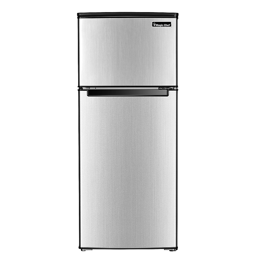 Magic Chef 4 5cf 2 Door Refrigerator Stainless The Home