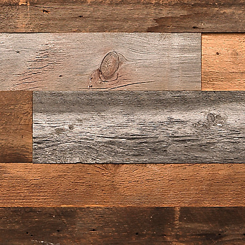 Planches murales, bois de grange, longueur, épaisseur et largeur variées, 14 pi2/caisse