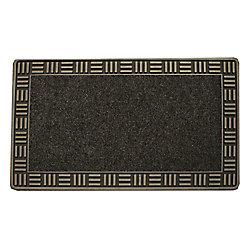 Floor Choice Tapis d'accueil, 18 po x 30 po, Framed, bronze