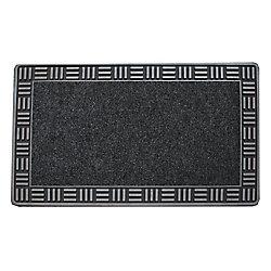 Floor Choice Tapis d'accueil, 18 po x 30 po, Framed, argent