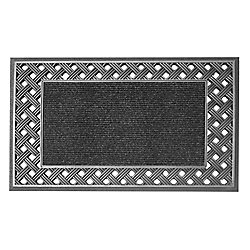 Floor Choice Tapis d'accueil, 18 po x 30 po, Engraved, argent
