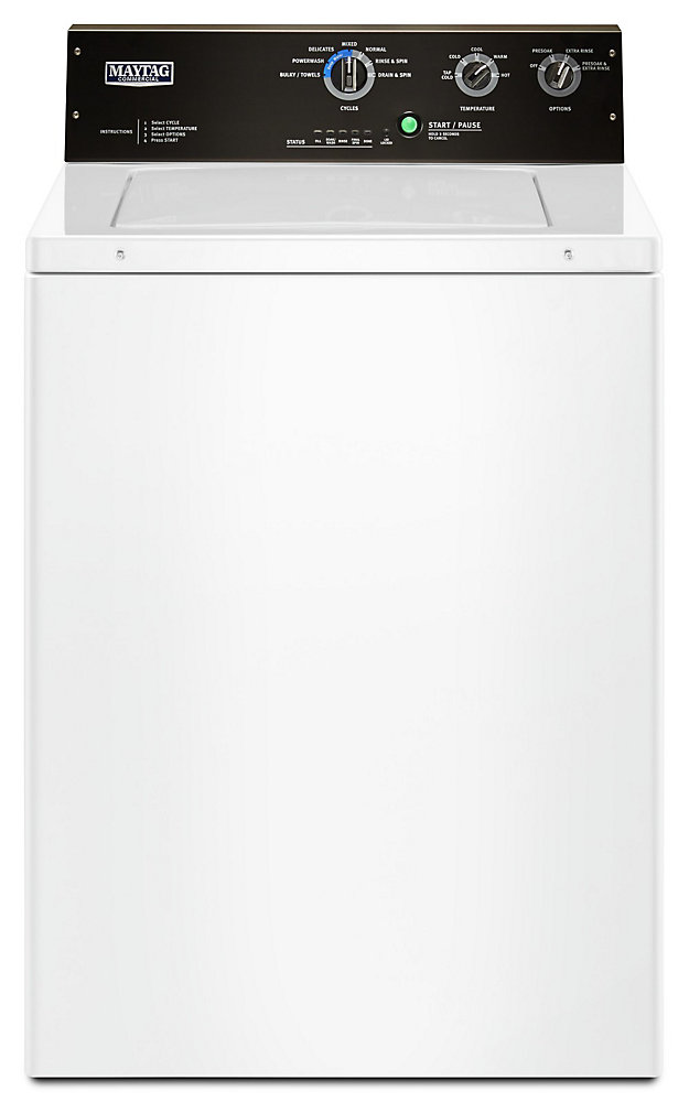 4 0 cu  ft  Top Load Commercial Washer in White